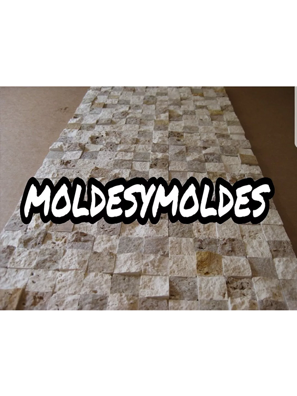 Molde Silicon Poliuretano Para Pared Diseño Exclusivo Piedra