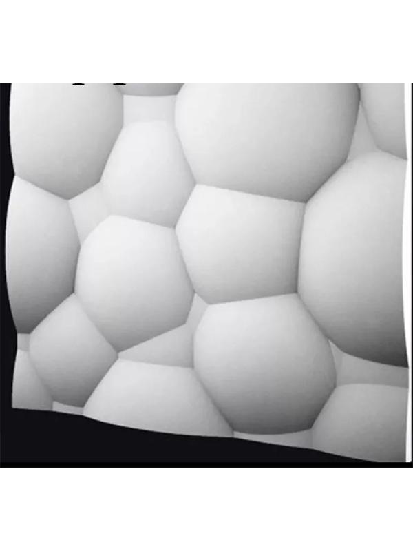 Panel Molde Silicon Para Yeso En 3d Decoración Burbuja