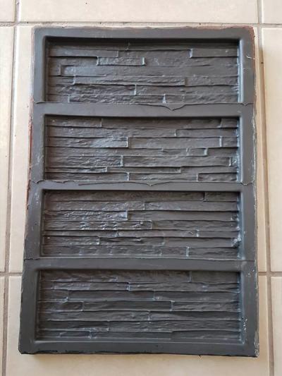 Molde Para Pared De Diseño Piedra Cultivada, Yeso O Cemento