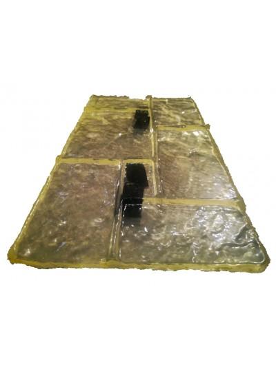 Molde Estampado En Pared O Piso Diseño Piedra De Castillo